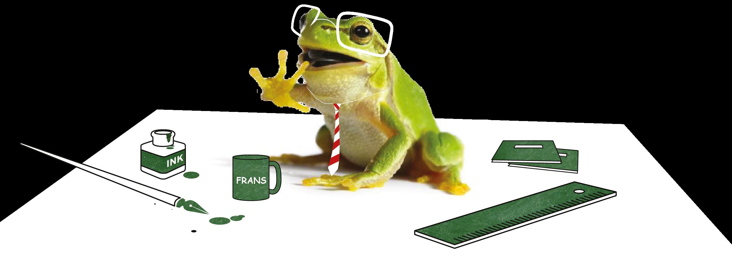Frosch+Schreibtisch